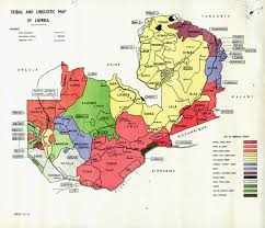 Ethnic Map of Zambia