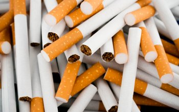Cigarettes randomly piled in a large heap